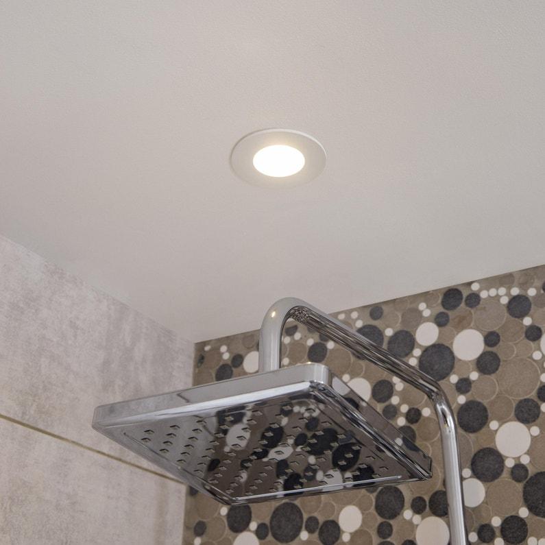 Kit 3 spots à encastrer salle de bains Kilia fixe INSPIRE LED intégrée blanc