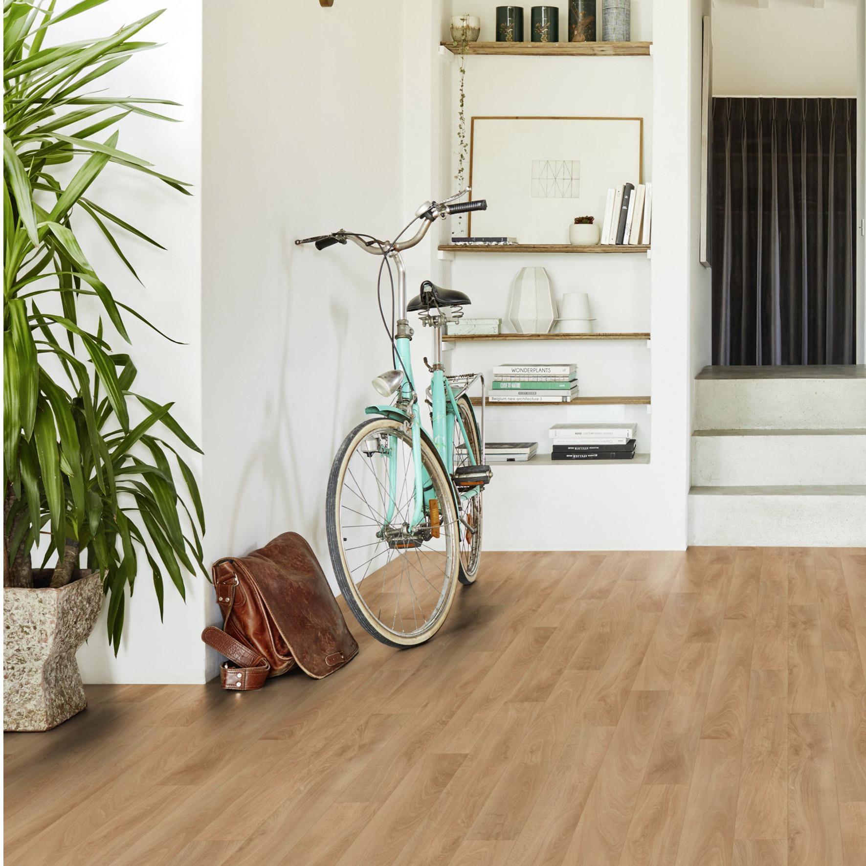Sol PVC TARKETT effet parquet chêne beige moyen oak Intenso mousse l.9 m