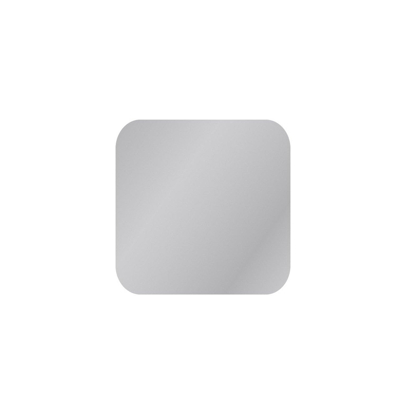 Miroir non lumineux découpé carré avec coins arrondis l.40 x L.40 cm Poli