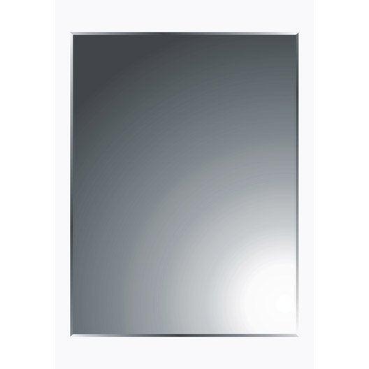 Miroir non lumineux d coup rectangulaire x cm biseaut leroy merlin - Grand miroir lumineux ...