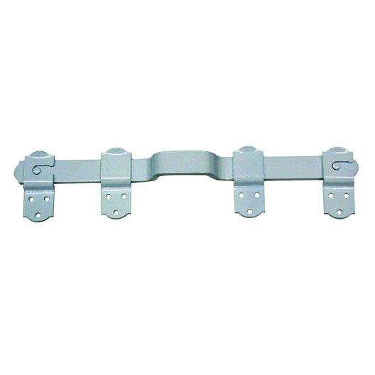 barre de sécurité en aluminium epoxy pour volets, l.45 cm | leroy