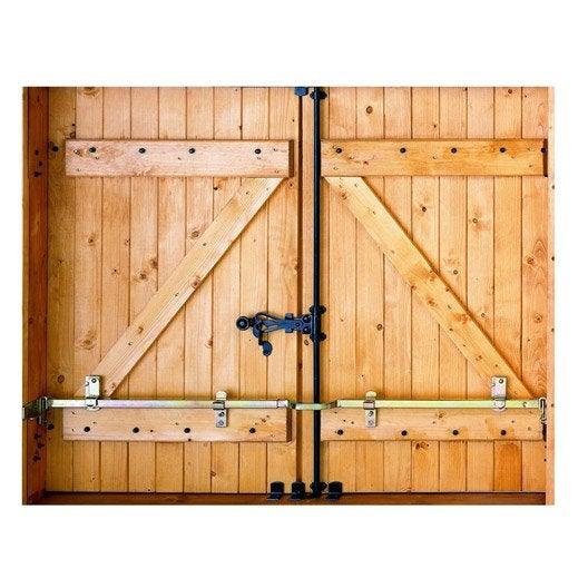 barre de sécurité en acier zingué pour volets, l.41 cm | leroy merlin