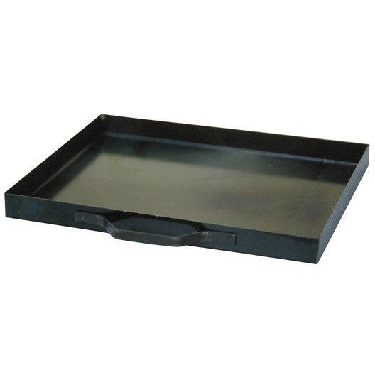 bac cendres t le acier anthracite delta x h 3 5 cm leroy merlin. Black Bedroom Furniture Sets. Home Design Ideas