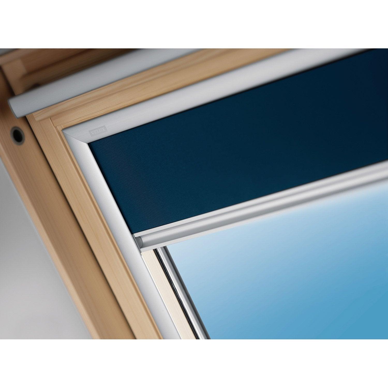 store fenêtre de toit occultant bleu velux dkl 102 | leroy merlin - Velux Pour Salle De Bain