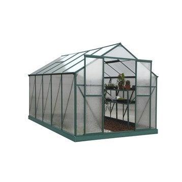 Serre EGT Orchidée polycarbonate double parois, 8.93 m²