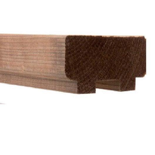 Main courante pour main courante moka bois brut x l for Main courante bois exterieur