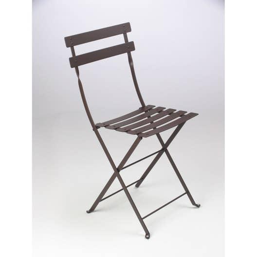 Chaise de jardin en acier Bistro rouille | Leroy Merlin