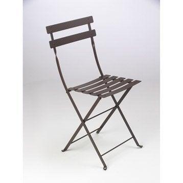 Chaise de jardin en acier Bistro rouille