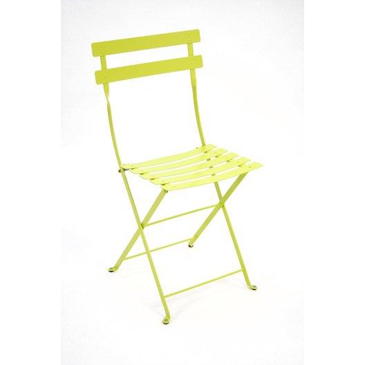 Chaise de jardin en acier Bistro verveine | Leroy Merlin