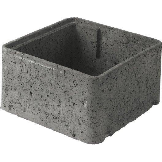 Rehausse de regard b ton 47x47x34 cm leroy merlin for Garage beton pret a poser