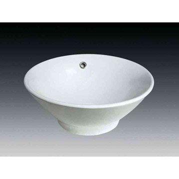 Vasque pour salle de bains lavabo vasque et plan vasque - Vasque a poser ceramique ...