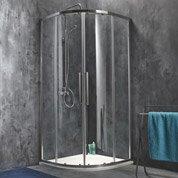 Porte de douche coulissante angle 1/4 de cercle l.90 x L.90 cm, chromé, Purity3