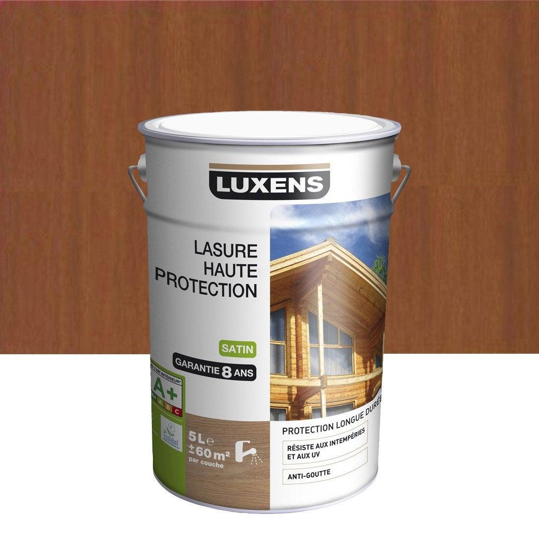 lasure luxens haute protection 5 l bois exotique leroy merlin. Black Bedroom Furniture Sets. Home Design Ideas