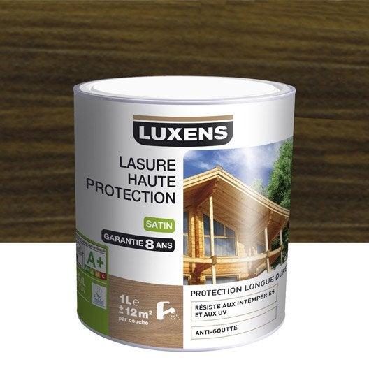 Lasure luxens haute protection 1 l weng leroy merlin for Peinture wenge bois