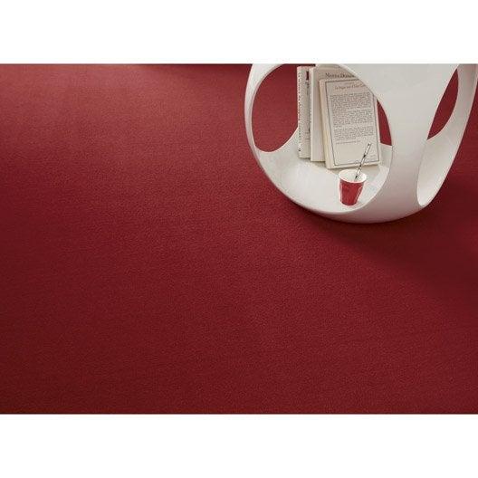 moquette velours diapason rouge 4 m leroy merlin. Black Bedroom Furniture Sets. Home Design Ideas