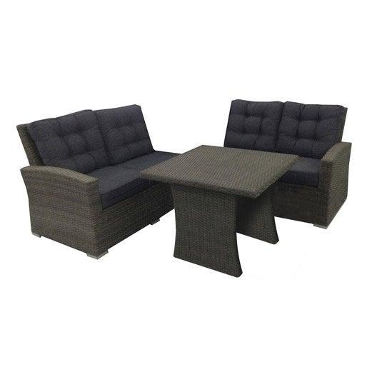 Salon de détente canapé fauteuil bas Salon de jardin