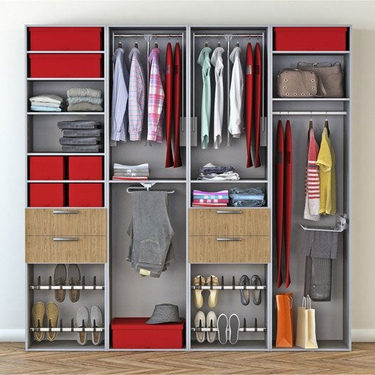 Dressing spaceo home gris leroy merlin - Leroy merlin dressing ...