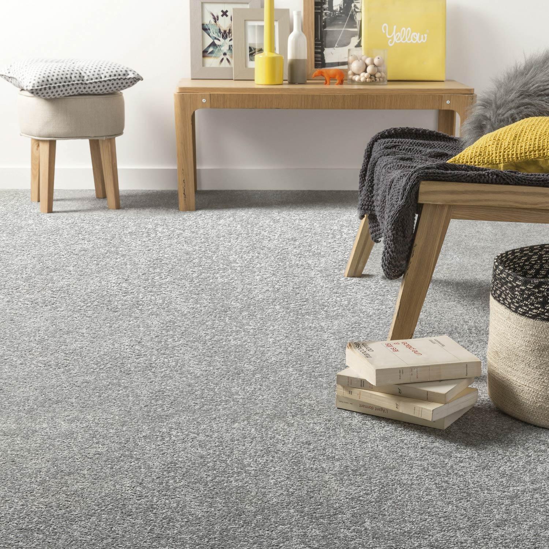 dalle moquette velours mini euphoria bleu x cm leroy merlin. Black Bedroom Furniture Sets. Home Design Ideas