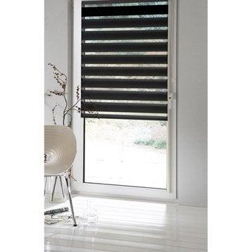 Store enrouleur jour / nuit INSPIRE, noir noir n°0, 56 x 160 cm