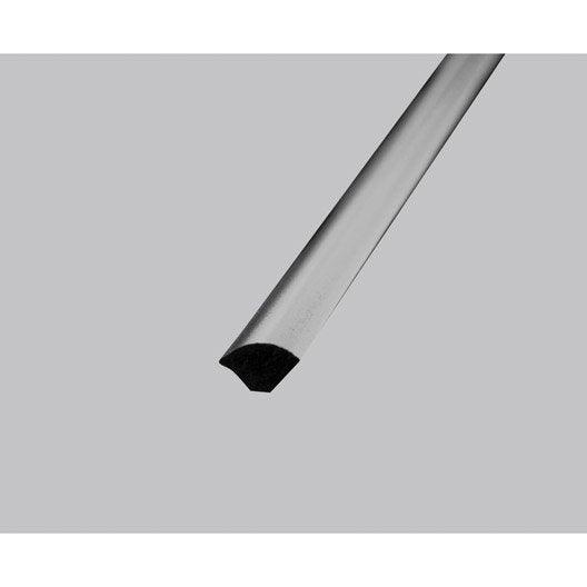quart de rond pvc mat, l.2.5 m x l.1.4 cm x h.1.4 cm | leroy merlin