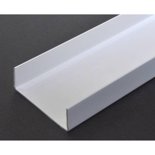 U rectangulaire pvc mat l 2 5 m x l 5 4 cm x h 2 cm leroy merlin - Profile aluminium rectangulaire ...