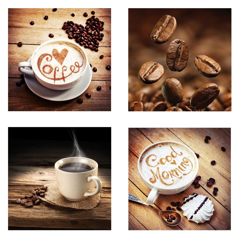Set de 4 images Cafe l.30 x H.30 cm