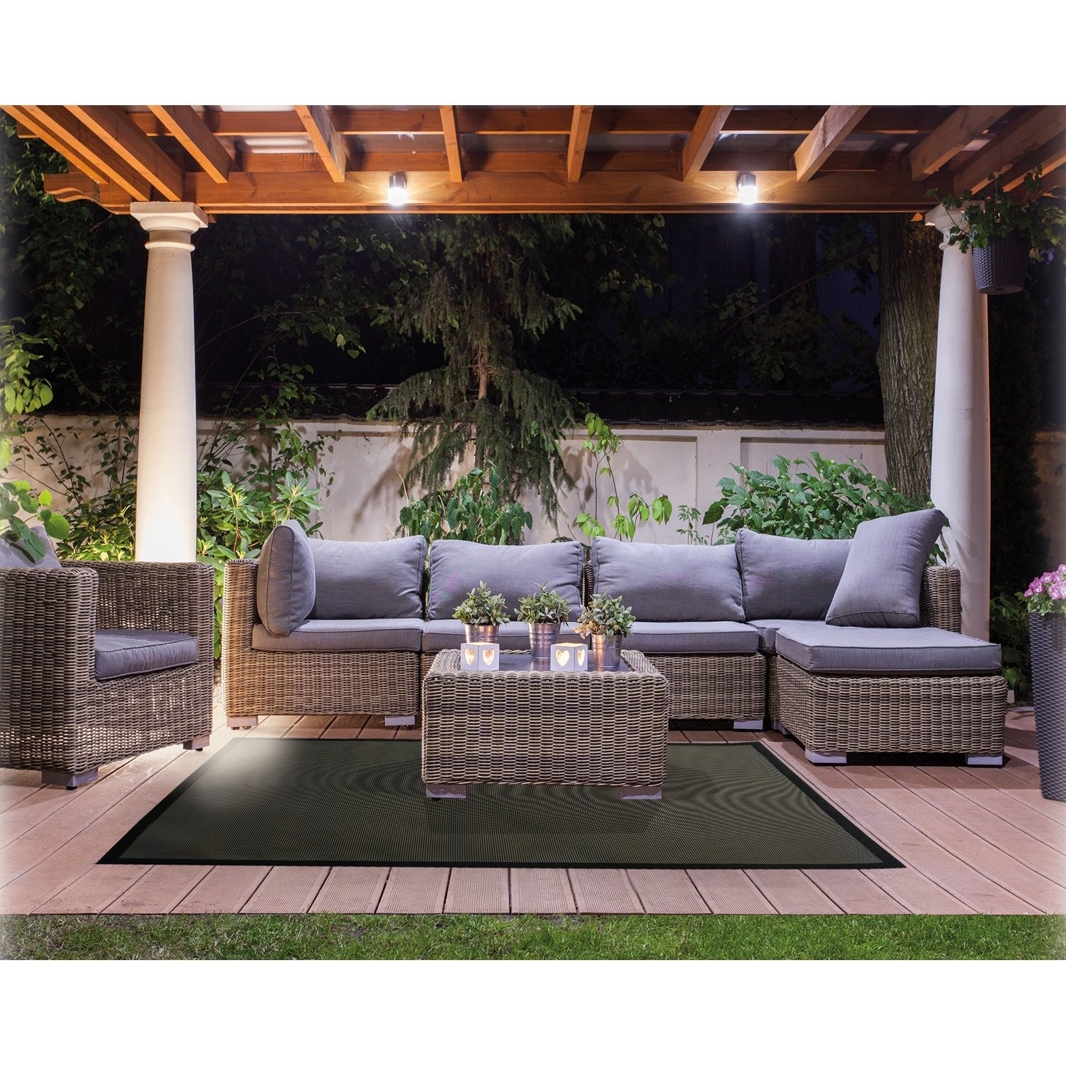 Tapis de sol noir outdoor 180cm leroy merlin - Tapis de sol magasin but ...