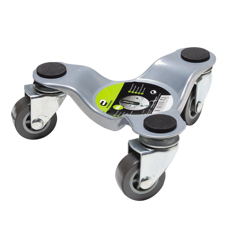 support roulant pour meuble pied acier charge support e 60 kg standers leroy merlin. Black Bedroom Furniture Sets. Home Design Ideas