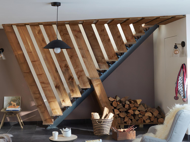 Réaliser un habillage en planches pour l'escalier