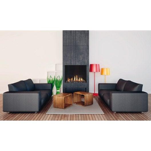 insert au gaz naturel ug10 100 9 5 kw leroy merlin. Black Bedroom Furniture Sets. Home Design Ideas