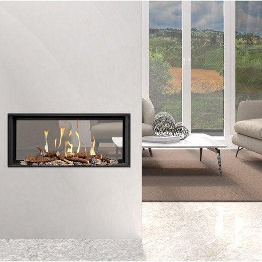 insert au gaz naturel ug11 vitres face face 9 5 kw. Black Bedroom Furniture Sets. Home Design Ideas