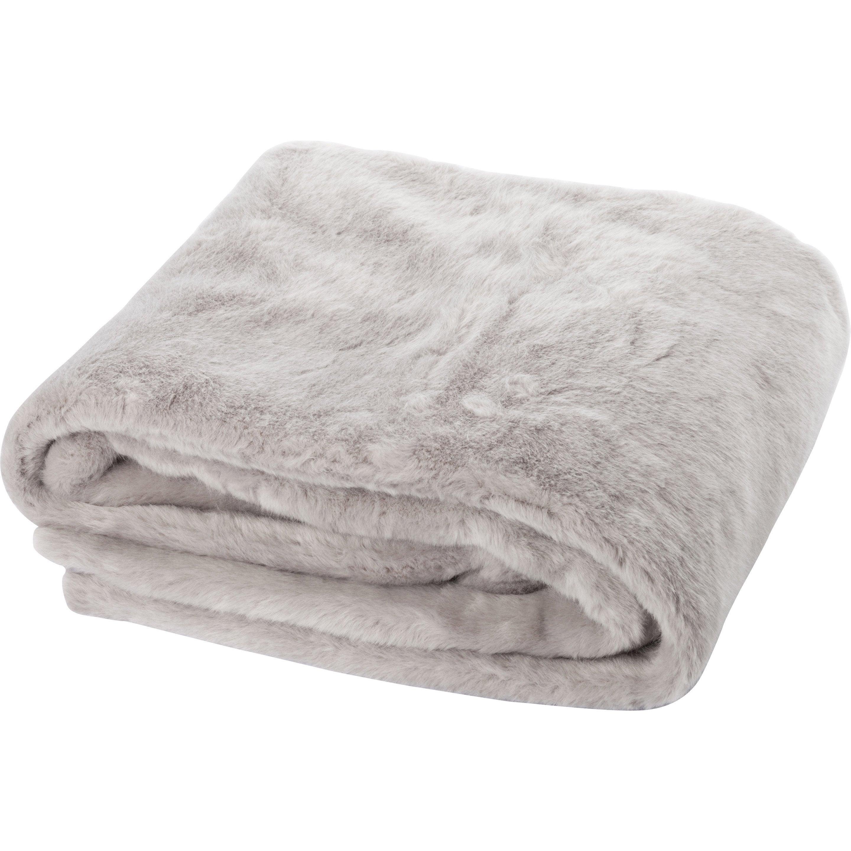 Plaid Pastel, gris l.130 x L.160 cm