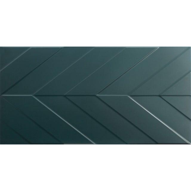 Décor Mur Uni Bleu Paon Mat L 40 X L 80 Cm Home Chevron