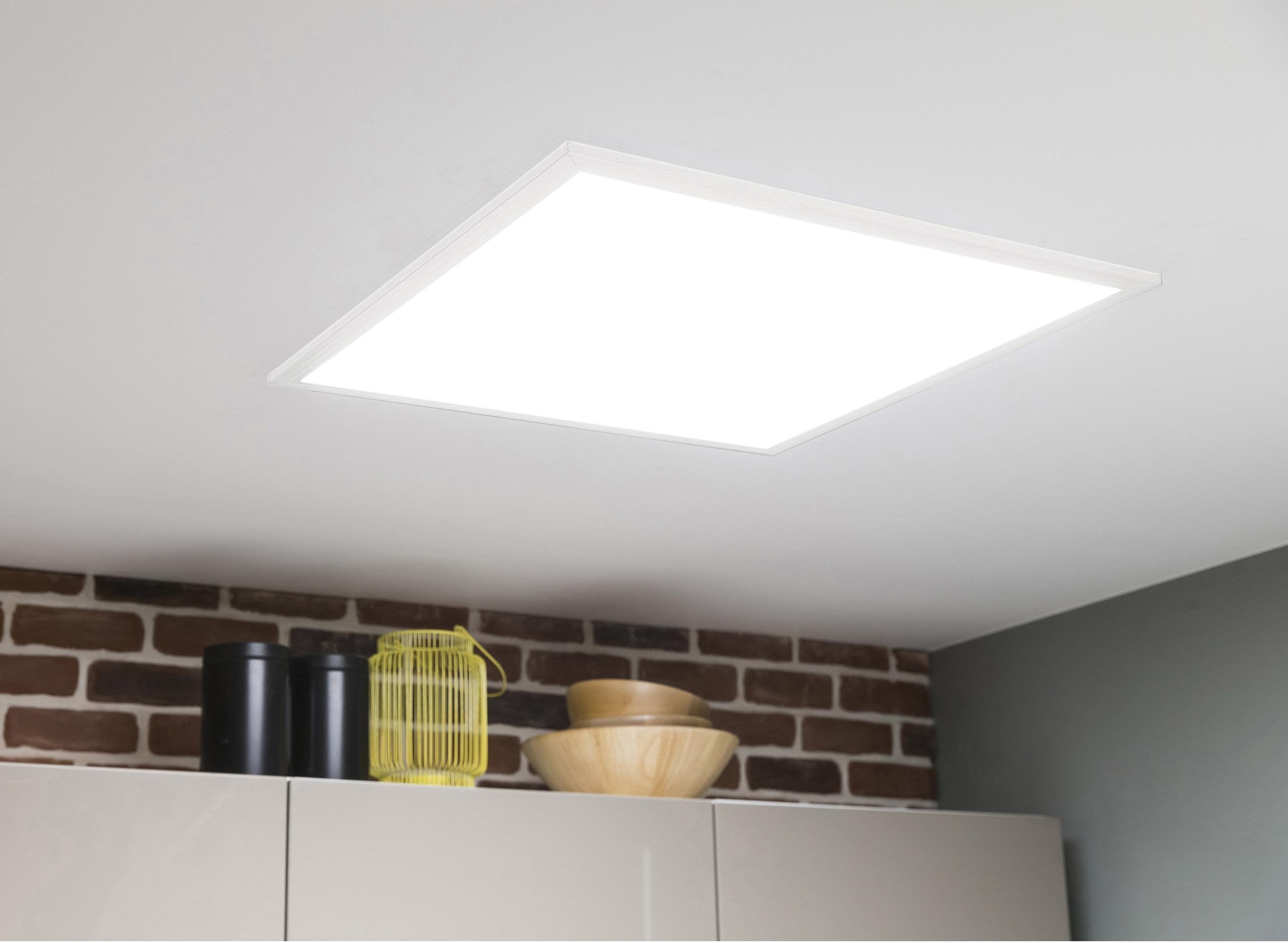 Eclairage Cuisine Led Plafond panneau led intégrée carré 60 x 60 cm, 40 w, blanc froid