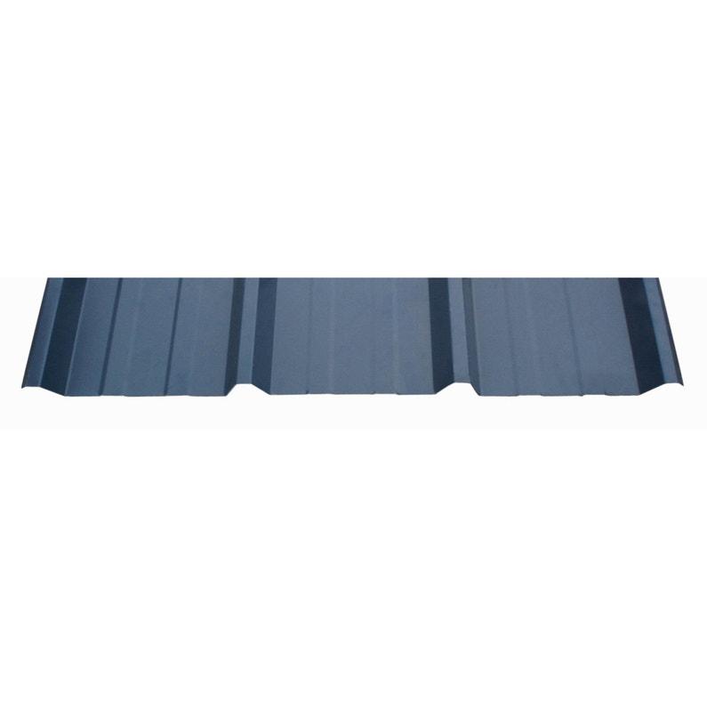 Plaque Régulée Nervurée Acier Galvanisé Bleu L105 X L3 M Ondometal