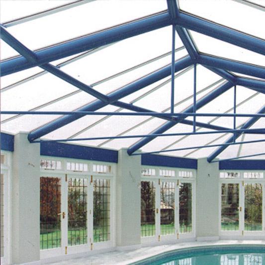 Plaque de toiture plat polycarbonate claire l.0.98 x L.4 m CARBOGLASS | Leroy Merlin