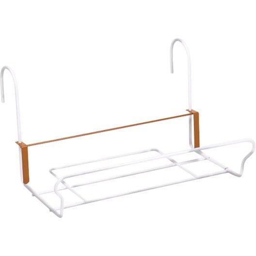 support balconni re jardifer rectangulaire blanc leroy merlin. Black Bedroom Furniture Sets. Home Design Ideas