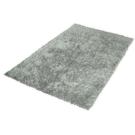 tapis shaggy lilou gris 170x120 cm. Black Bedroom Furniture Sets. Home Design Ideas