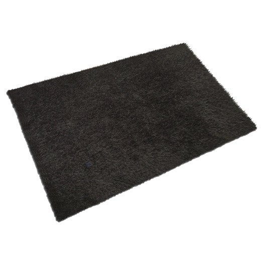tapis noir shaggy lilou x cm leroy merlin. Black Bedroom Furniture Sets. Home Design Ideas