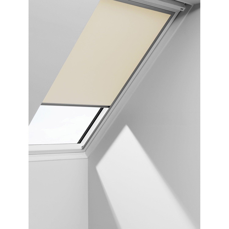 Store fenêtre de toit occultant beige VELUX Dkl u04   Leroy Merlin