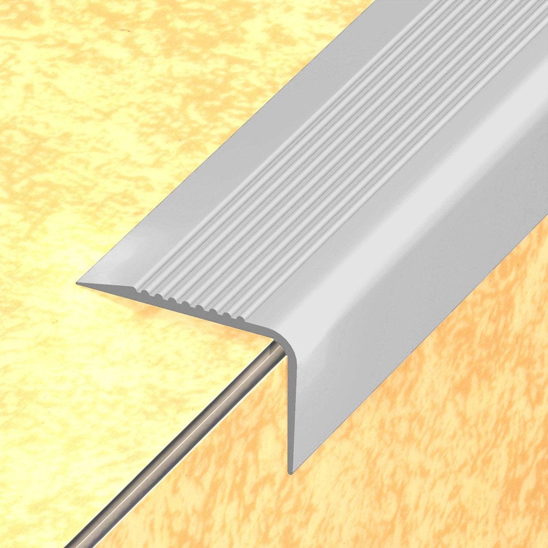 nez de marche pvc gris x l 6 5 cm leroy merlin. Black Bedroom Furniture Sets. Home Design Ideas