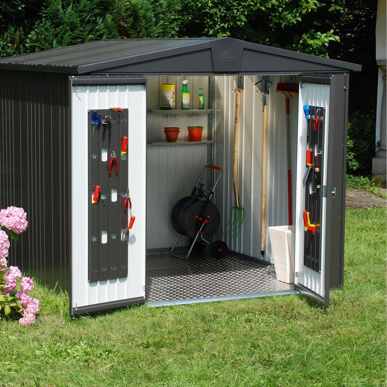 abri de jardin acier europa t3 ep.0.5 mm, 3.33 m² | leroy merlin