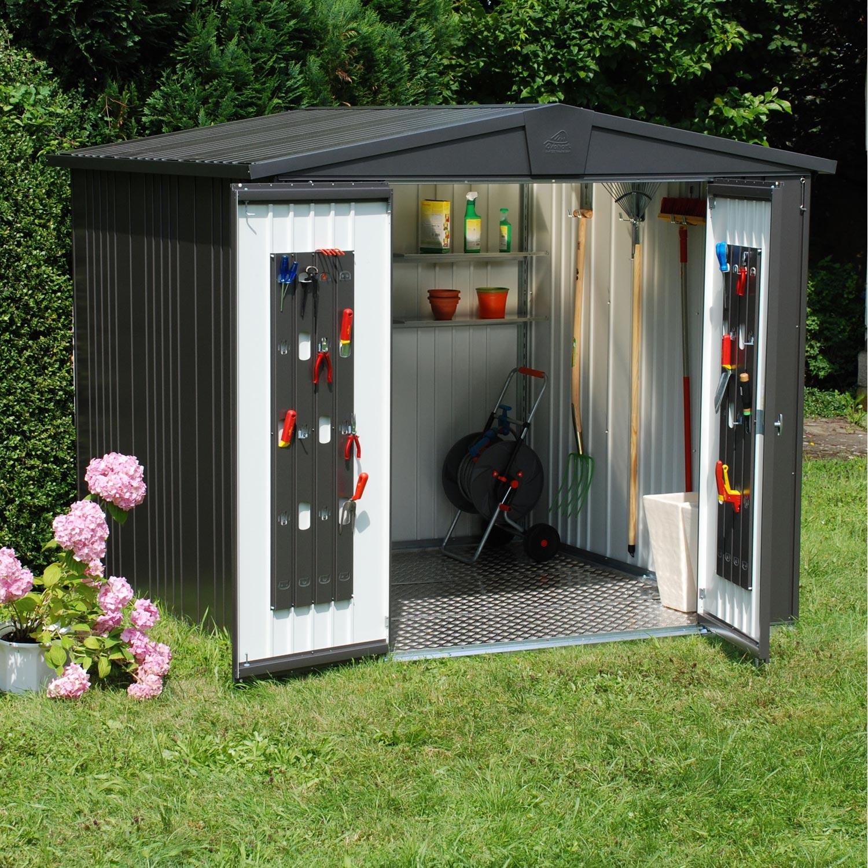 abri de jardin acier europa t4 ep.0.5 mm, 4.93 m² | leroy merlin