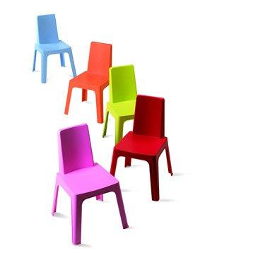 Chaise pour enfants en résine injectée Julieta panaché