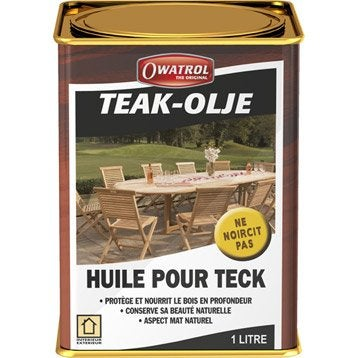Huile OWATROL Teak olje 1 l, incolore