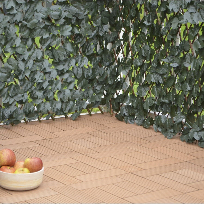 treillis extensible avec feuillage bois plastique cm x cm leroy merlin. Black Bedroom Furniture Sets. Home Design Ideas