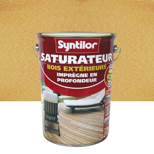 Saturateur bois syntilor incolore aspect mat 5 l for Entretien bois exotique exterieur