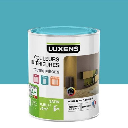 peinture bleu atoll 4 luxens couleurs int rieures satin 0 5 l leroy merlin. Black Bedroom Furniture Sets. Home Design Ideas