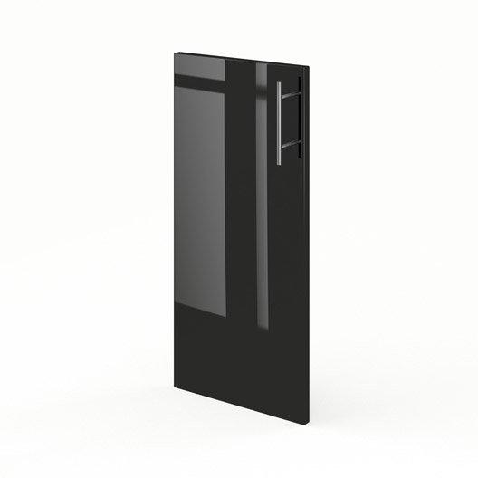 Porte pour angle de cuisine noir rio x cm for Porte 70 cm de large