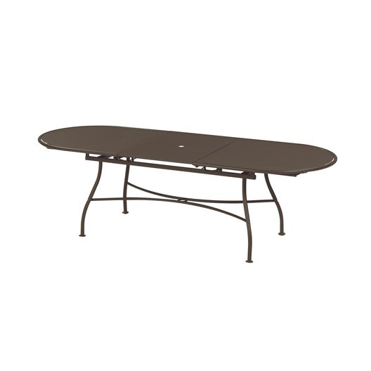 table de jardin evo rectangulaire bronze 10 personnes leroy merlin. Black Bedroom Furniture Sets. Home Design Ideas